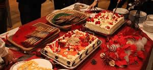 豪華なお料理と季節感のある納会のケータリング事例